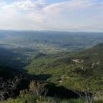Pogled proti dolini s 3. kontrolne točke pri Materi Gorjanki.