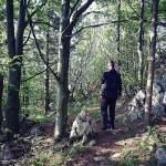 Z Egonom sva prehodila kakšnih 500 m proge blizu Predmeje.