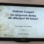 na Bledu si lahko pogledate tudi kratek intervju Jožeta Hudečka z Gasparijem za RTV