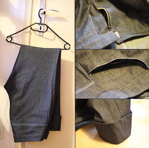 šivanje jeans hlač