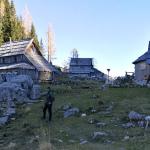 Planina Viševnik je bila konec oktobra že skoraj popolnoma v senci in zapuščena